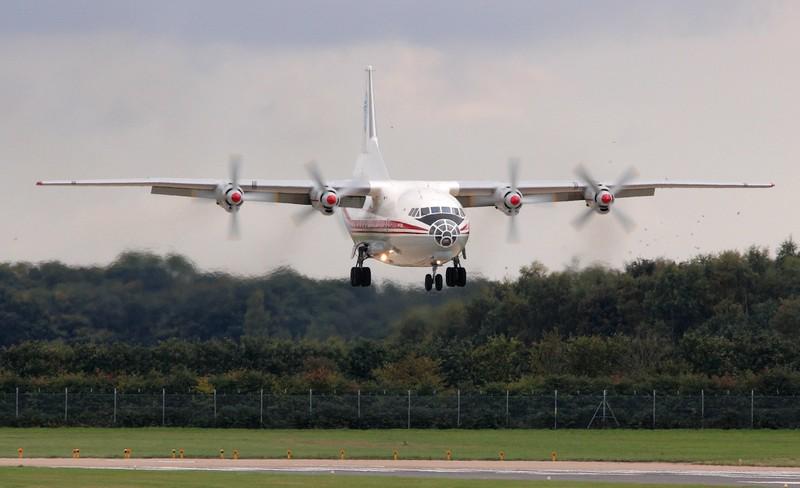 Ukraine Air Alliance Antonov An-12BK, UR-CAJ<br /> By Jim Calow.