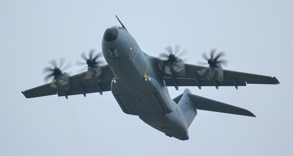 RAF A-400M Atlas, ZM400 put in another appearance and carried out a few ILS approaches.<br /> By Jim Calow.