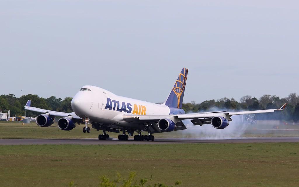 Atlas Air 747-400F N415MC.<br /> By Correne Calow.