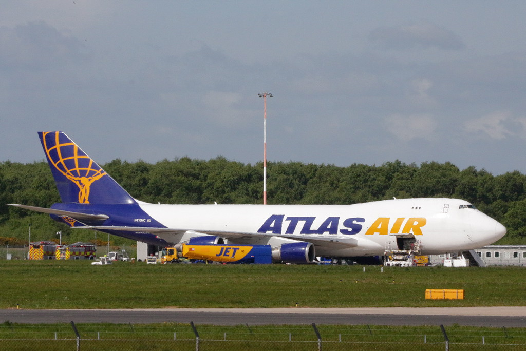 Atlas Air 747-400F N415MC<br /> By Clive Featherstone.