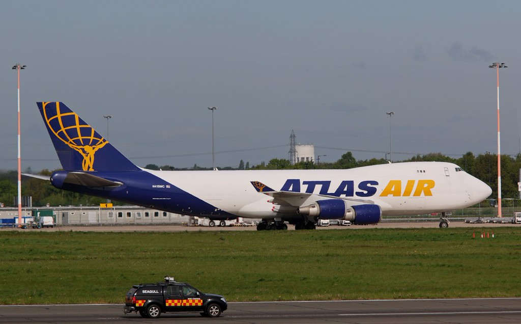 Atlas Air 747-400F N415MC parked on stand 1A.<br /> By Correne Calow.