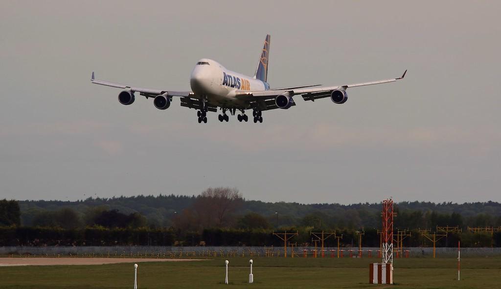 Atlas Air 747-400F N415MC arriving from Astana, Kazakhstan.<br /> By Correne Calow.