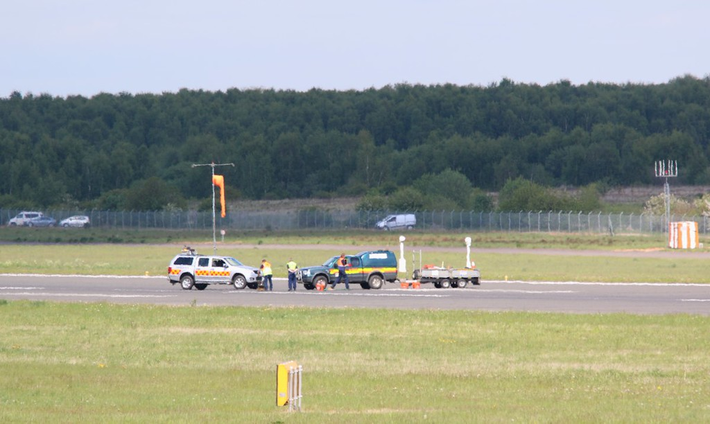 DSA's runway was closed for repairs at 14:00; even the wind sock was showing a lack of interest !<br /> By Correne Calow.