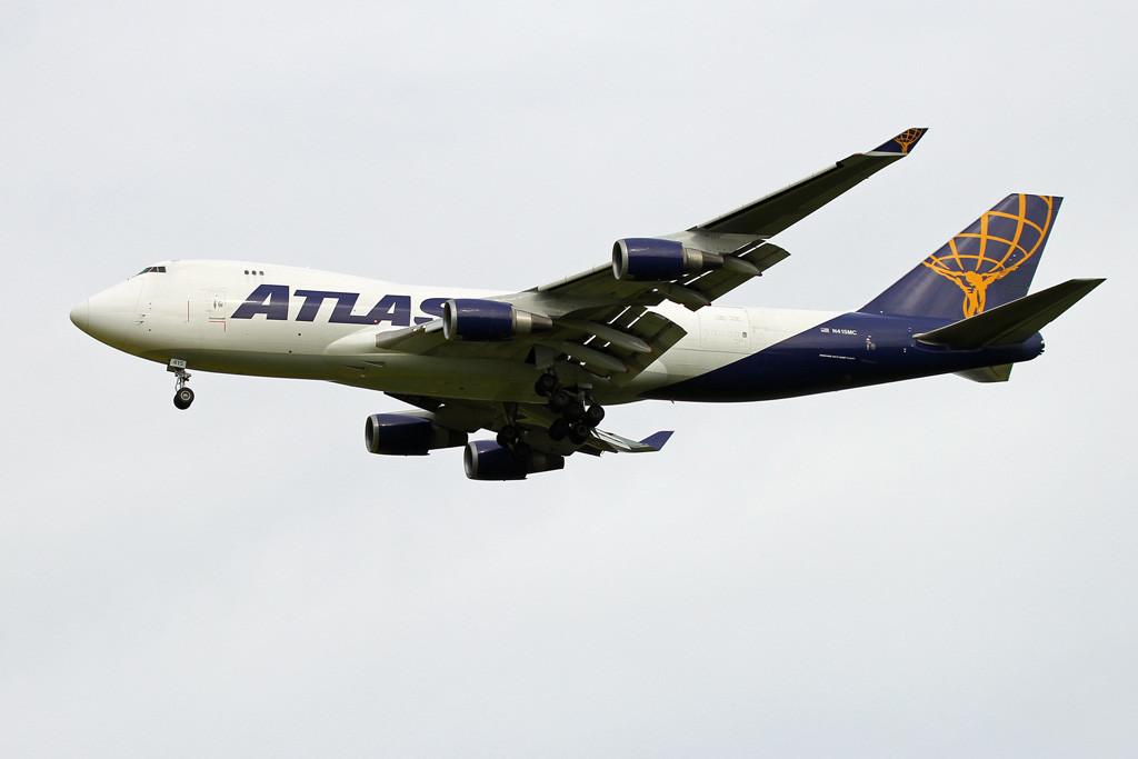 Atlas Air 747-400F N415MC.<br /> By Graham Vlacho.