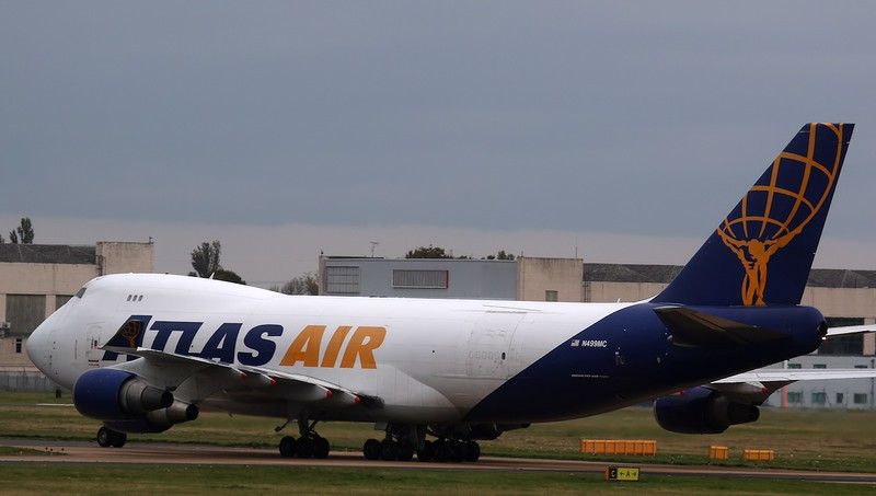 Atlas Air B747-400F, N499MC<br /> By Correne Calow.
