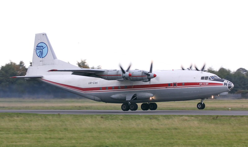 Ukraine Air Alliance (UAA) Antonov An-12BP, UR-CAK<br /> By Jim Calow.