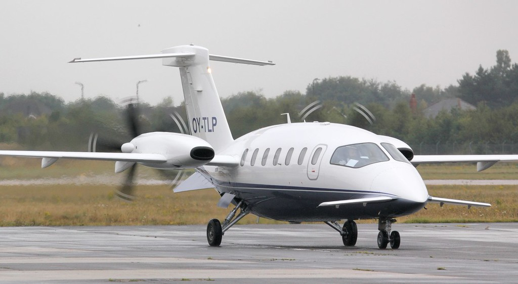 This Danish registered Piaggio P180 Avanti, OY-TLP arrived from Esbjerg shortly before 16:00.<br /> By Jim Calow.