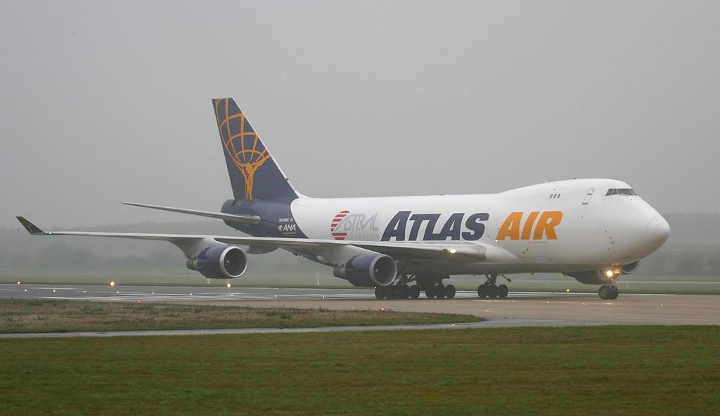 Atlas Air 747-400 N408MC.<br /> By Jim Calow.