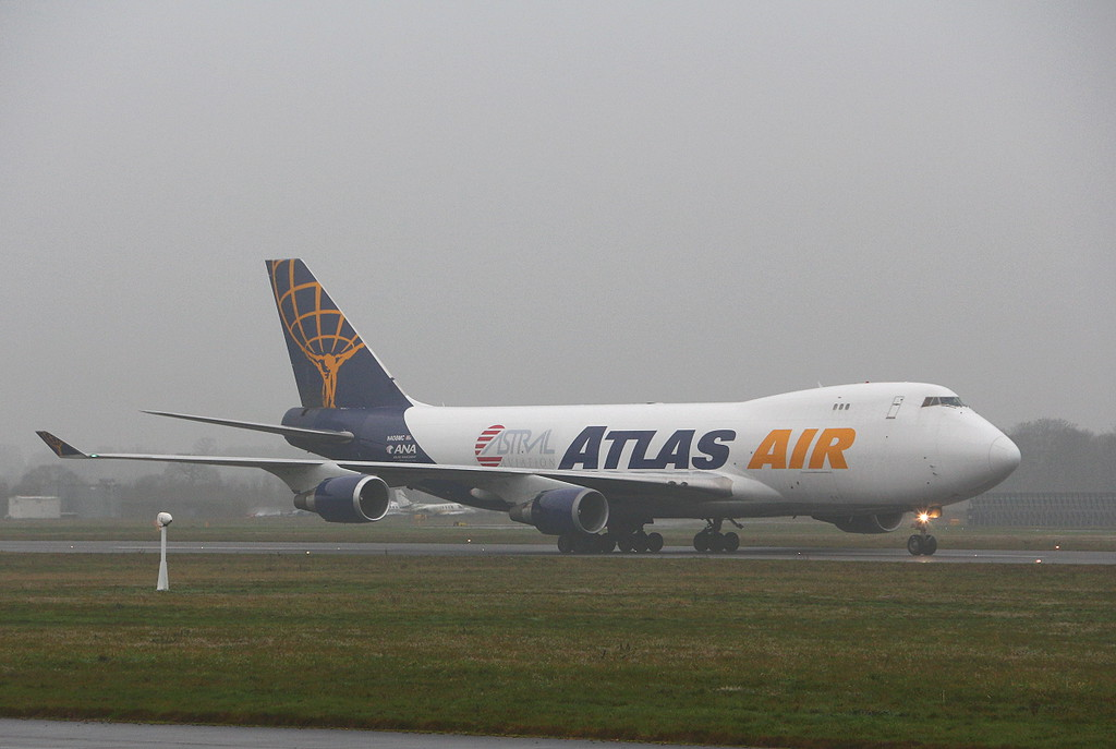 Atlas Air 747-400 N408MC.<br /> By Clive Featherstone.
