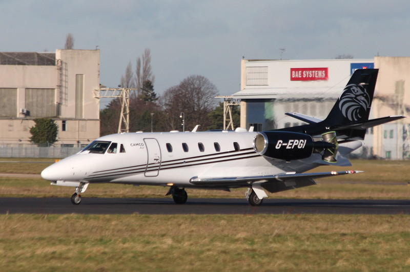 Cessna 560XL Citation Excel, G-EPGI <br /> By Clive Featherstone.
