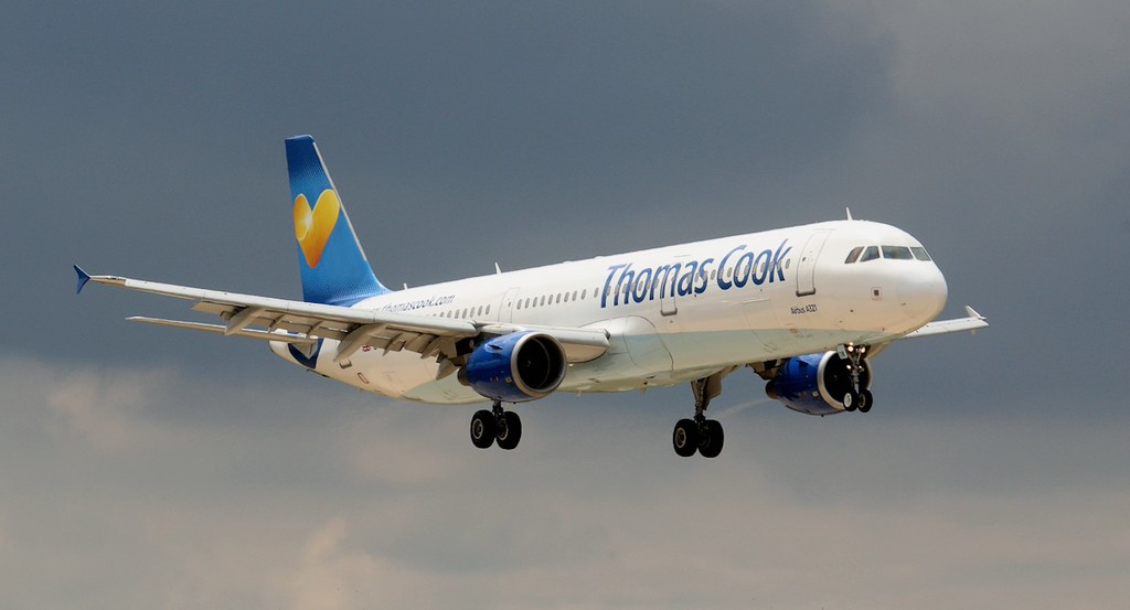 Thomas Cook A321 G-TCDW.<br /> By Jim Calow.