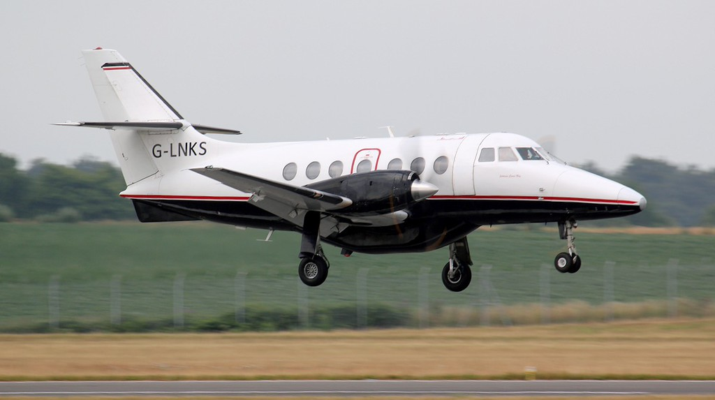 Linksair Jetstream 31 G-LNKS.<br /> By Jim Calow.