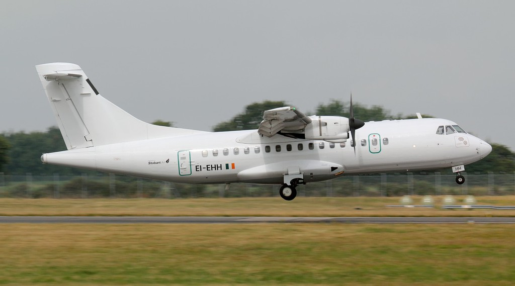 Stobart Air ATR 42-300 EI-EHH.<br /> By Jim Calow.