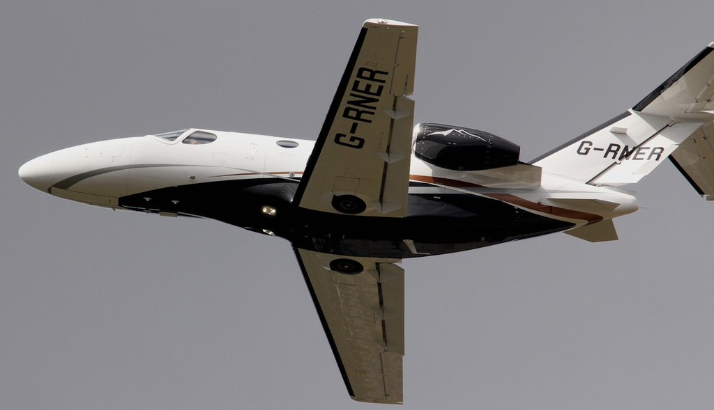 Cessna 510 Mustang G-RNER.<br /> By Jim Calow.