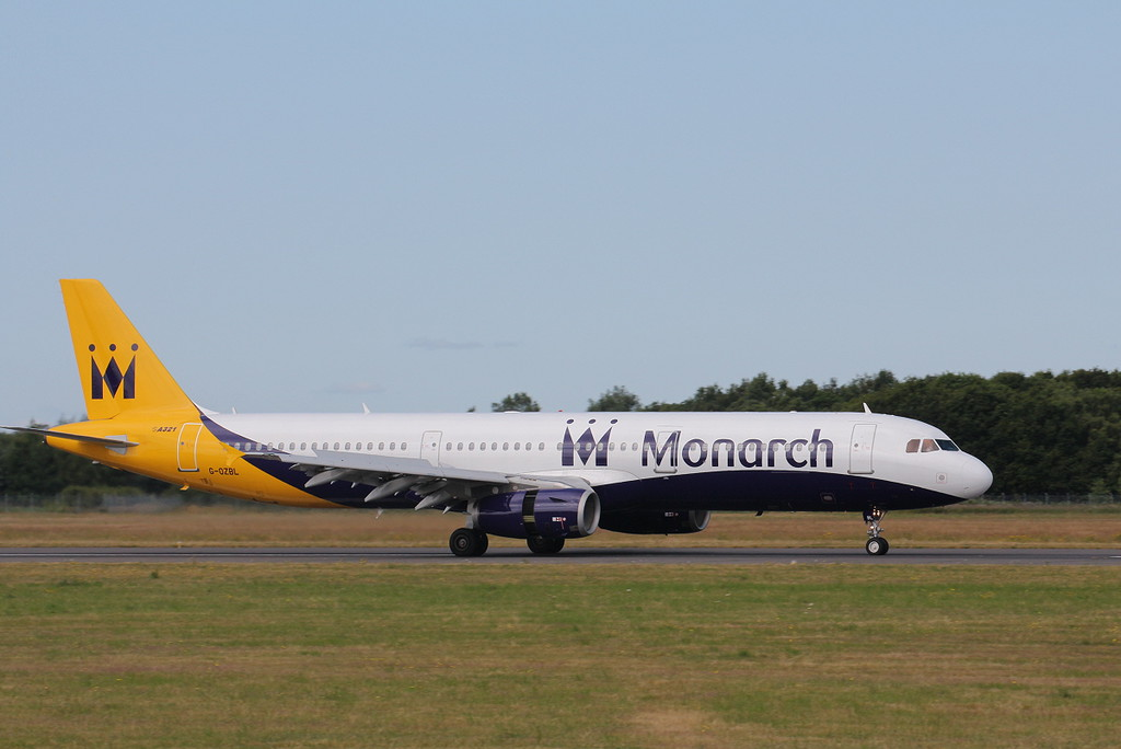 Monarch A321 G-OZBL.<br /> By Clive Featherstone.