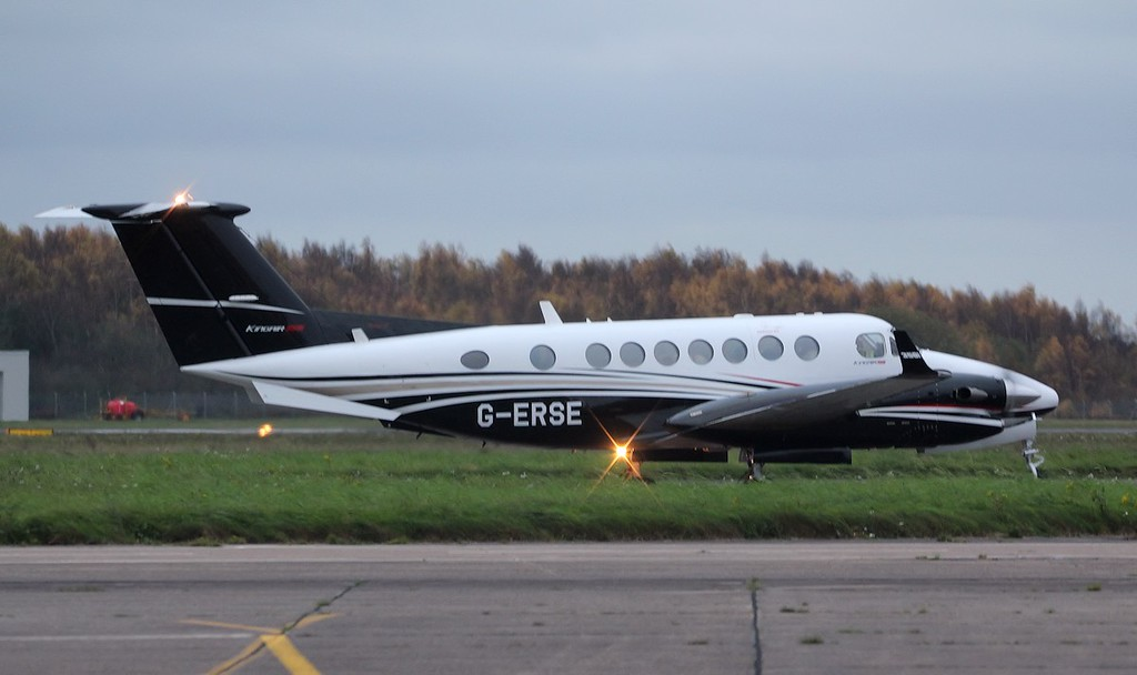 Flairjet Beech King Air 350i G-ERSE.<br /> By Jim Calow.
