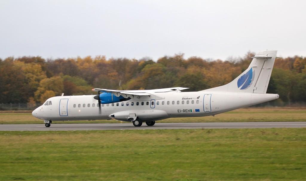 Stobart Air (Aer Lingus) ATR-72 EI-REH.<br /> By Jim Calow.