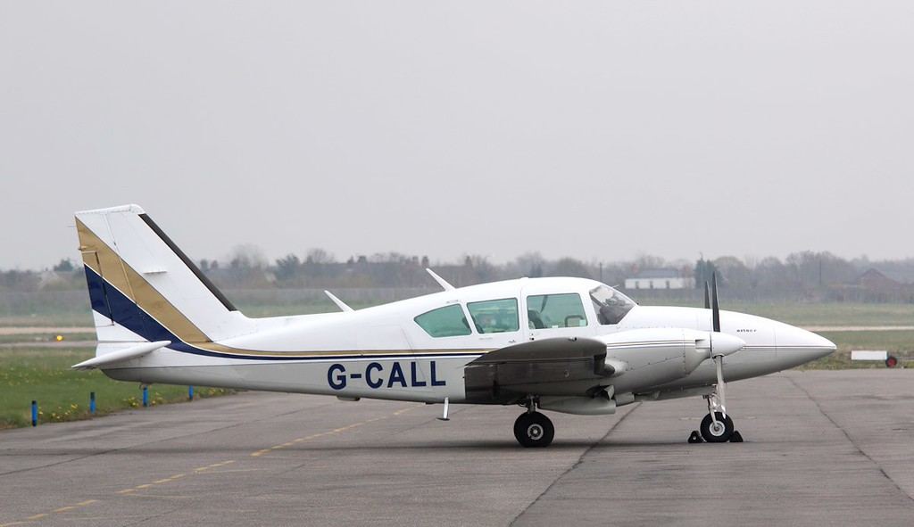 Piper PA23 Aztec, G-CALL.<br /> By Correne Calow.