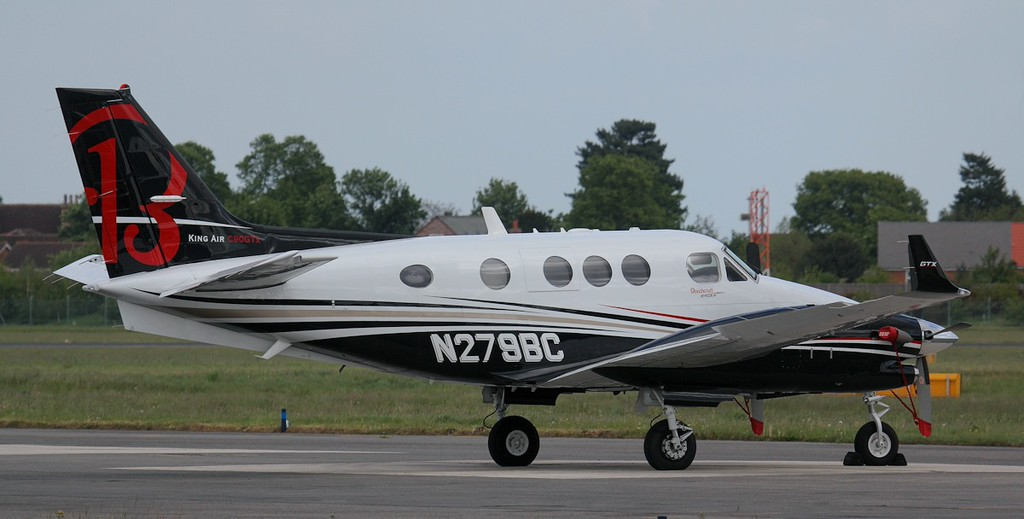 Beechcraft Corp Beech C90GTi King Air, N279BC, arrived late yesterday afternoon.<br /> By Jim Calow.
