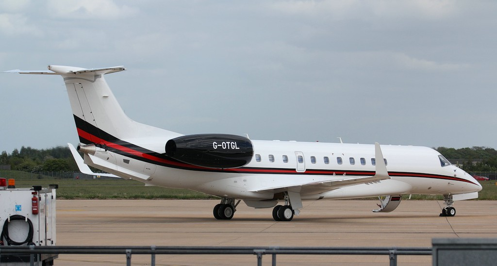 Hangar8 EMB-135BJ Legacy 650, G-OTGL.<br /> By Jim Calow.