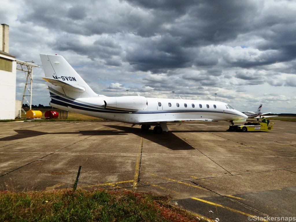 Cessna 680 Citation Sovereign M-SVGN.<br /> By Kevin Barwell.