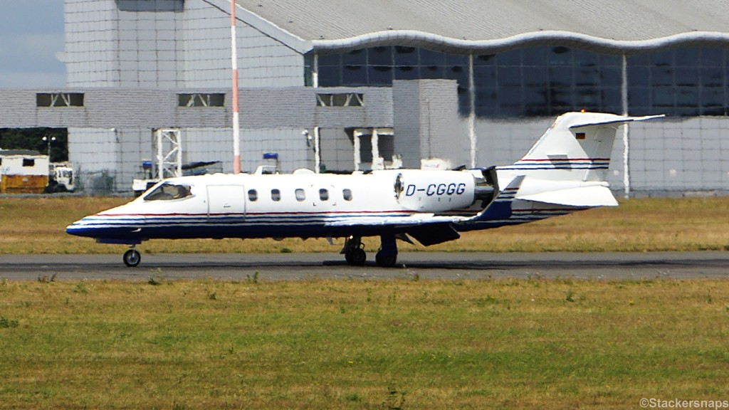 MHS Aviation Learjet 31A. D-CGGG.<br /> By Kevin Barwell.