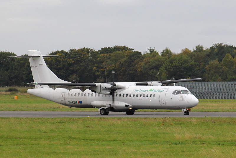 Stobart Air (Aer Lingus) ATR 72 EI-REI.<br /> By Clive Featherstone.