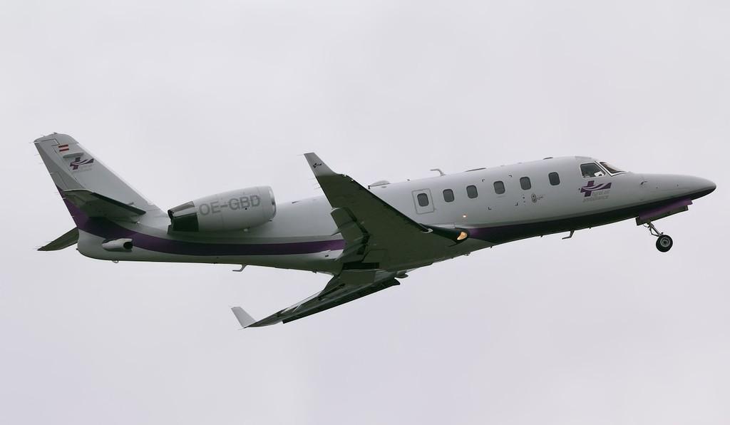 Tyrol Air Ambulance IAI-1125A Astra SPX OE-GBD.<br /> By Jim Calow.