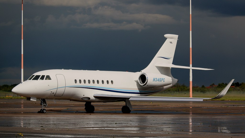 Global Pacific Aviation Falcon 2000EX N346PC.<br /> By Correne Calow.