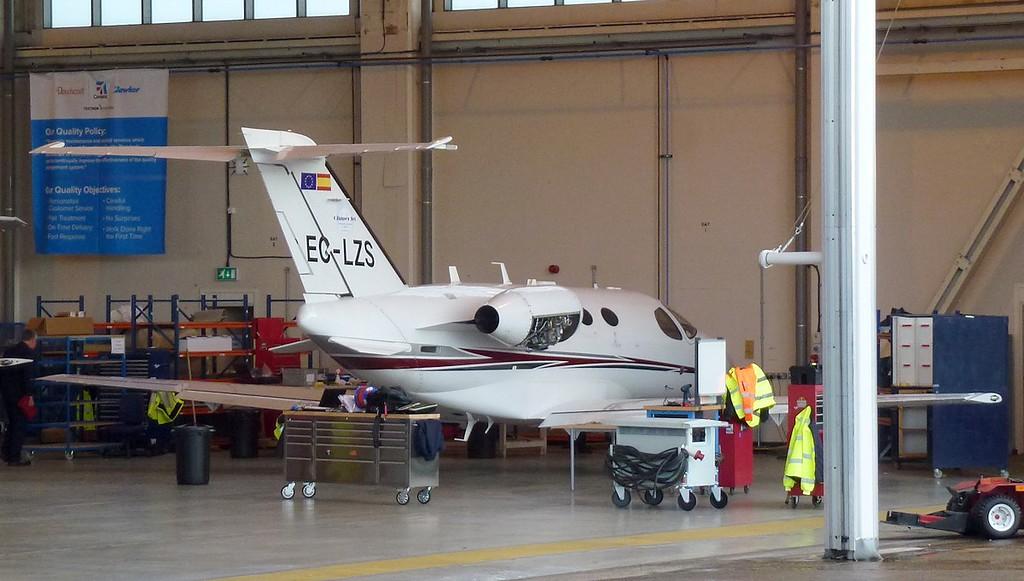 Clipper National Air, Cessna 510 Citation Mustang, EC-LZS.<br /> By Jim Calow.