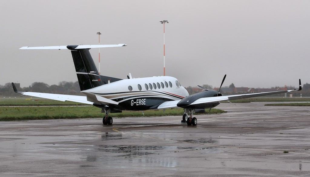 Flairjet Beech King Air 350i, G-ERSE.<br /> By Correne Calow.