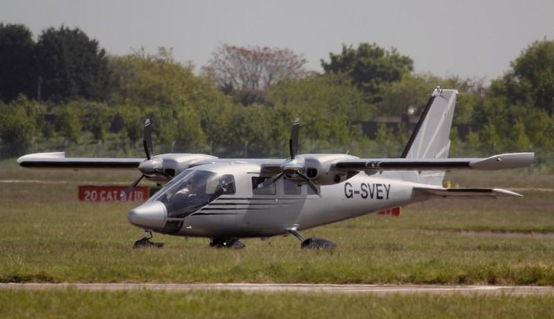 2Excel, Vulcanair P-68TC, G-SVEY<br /> By Jim Calow.