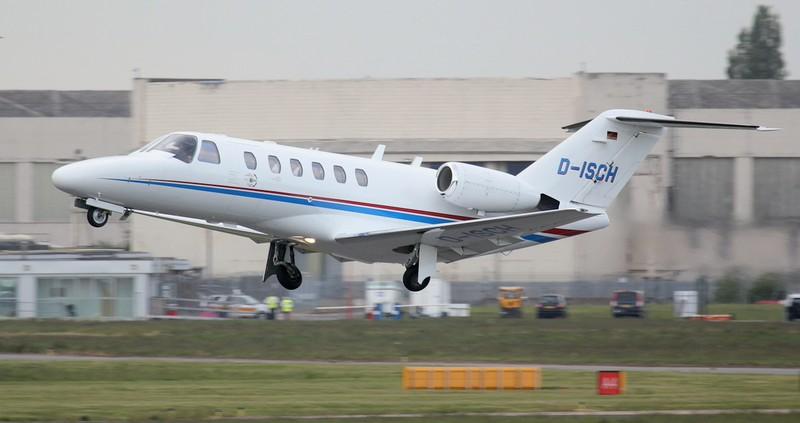 Schubert GmbH, Cessna 525A CitationJet CJ2, D-ISCH<br /> By Jim Calow.
