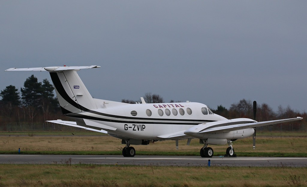 Capital Air Charter, Beech 200 Super King air, G-ZVIP<br /> By Correne Calow.