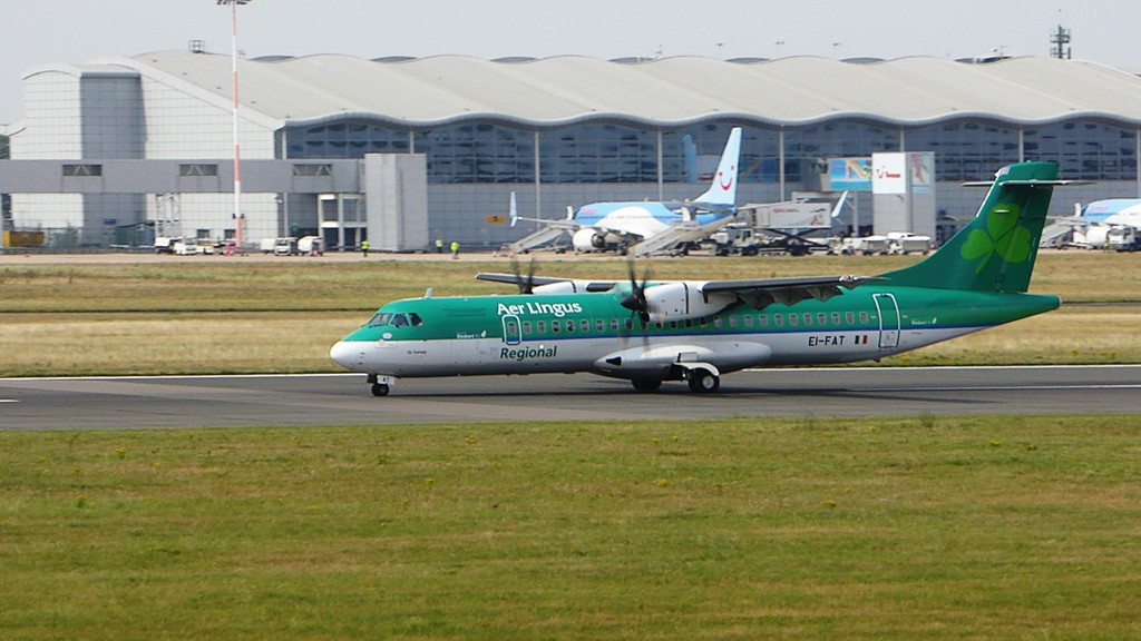 Stobart Air (aer Lingus) ATR-72 EI-FAT.<br /> By Kevin Barwell.