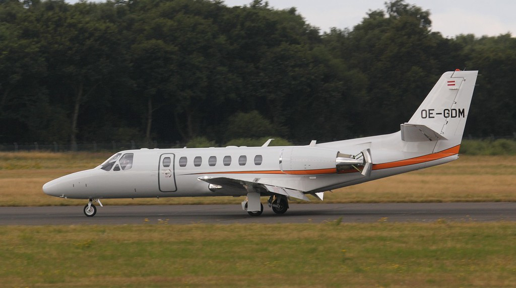 The Flying Bulls Cessna 560 Citation Encore+ OE-GDM.<br /> By Jim Calow.
