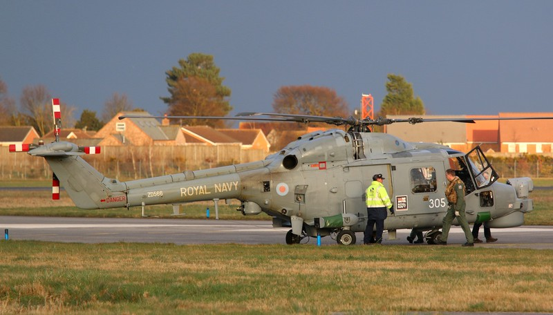 Royal Navy Lynx HMA8, ZD566/305.<br /> By Correne Calow.