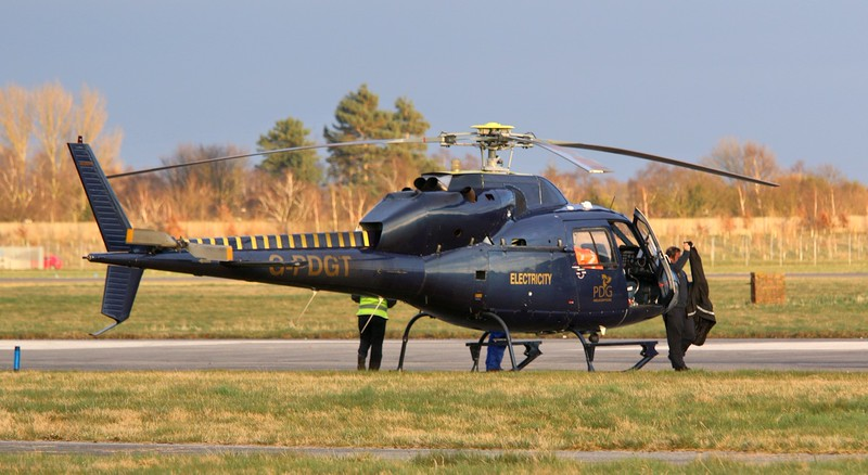 PDG Helicopters AS355F2 Ecureuil 2 G-PDGT.<br /> By Correne Calow.