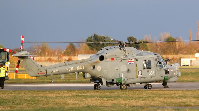 Royal Navy Lynx HMA8, ZD268/365.<br /> By Correne Calow.