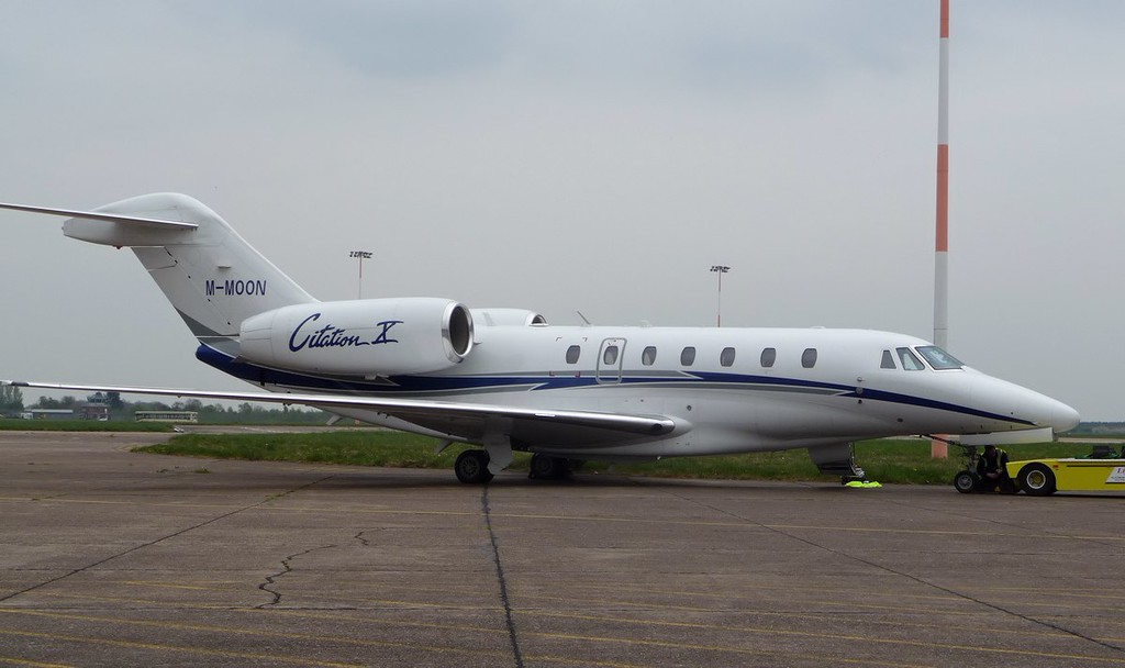 Cessna 750 Citation X, M-MOON<br /> By Correne Calow.