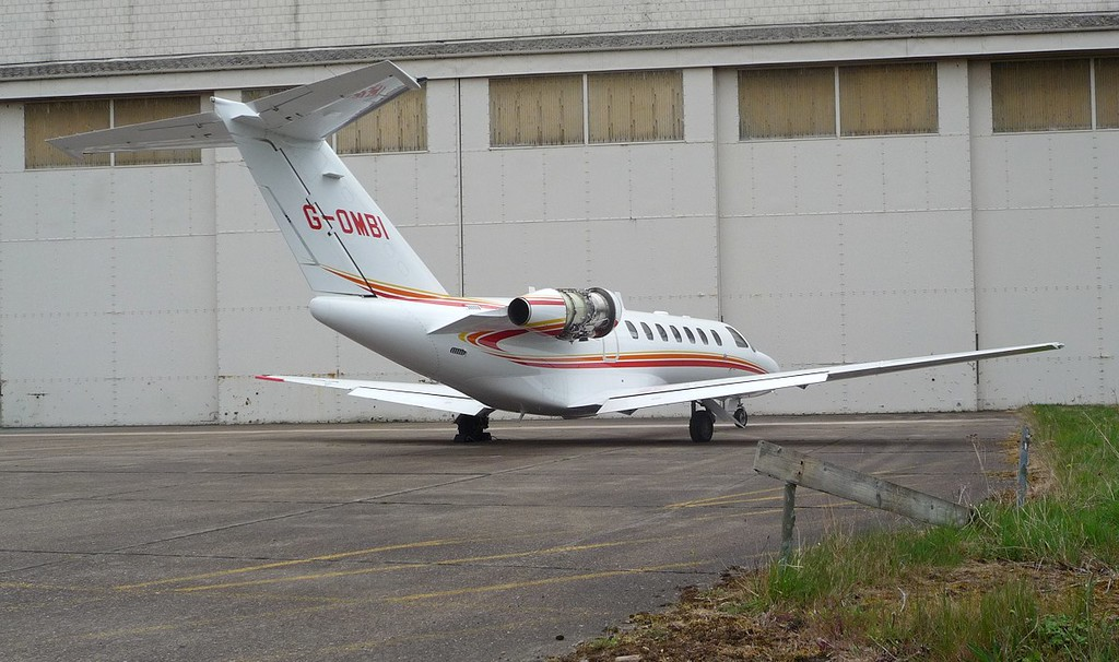 Cessna 525B CitationJet CJ3, G-OMBI<br /> By Correne Calow.