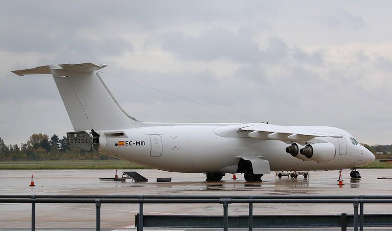 Pan Air Lineas Aereas, BAe 146-300QT, EC-MID<br /> By Correne Calow.