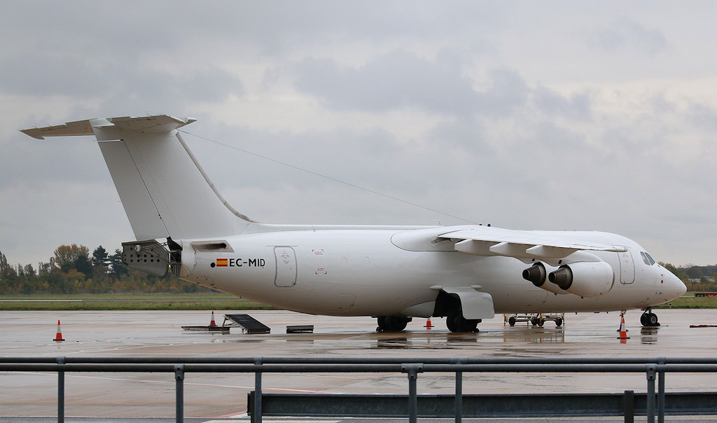 Pan Air Lineas Aereas, BAe 146-300QT, EC-MID<br /> By Correne Calow.