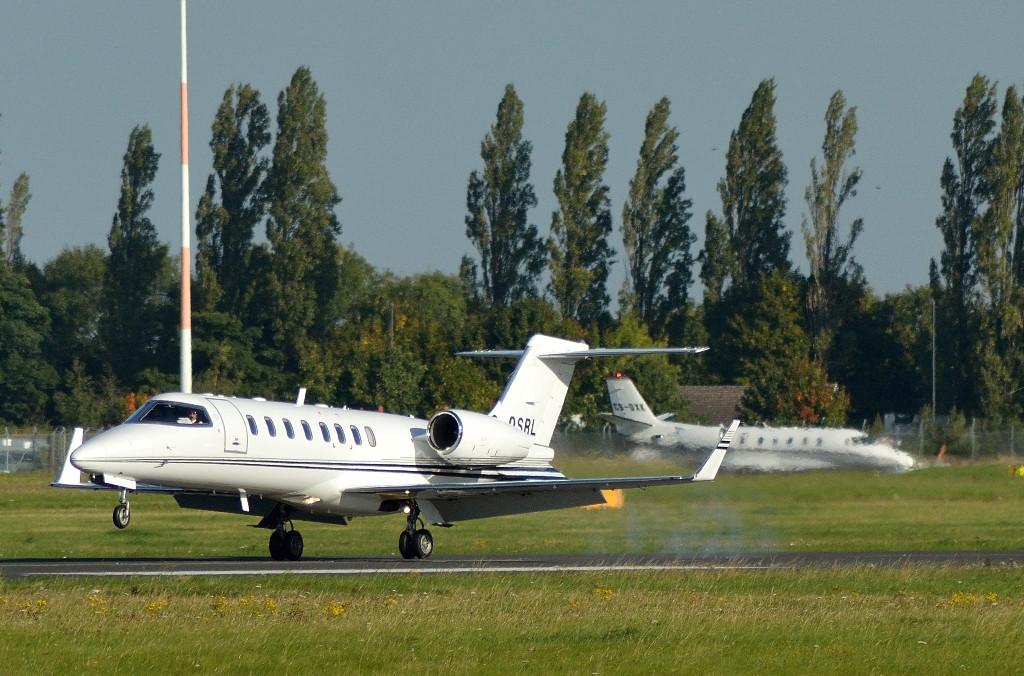 Hangar 8 Learjet 45, G-OSRL.<br /> By Kevin Barwell.
