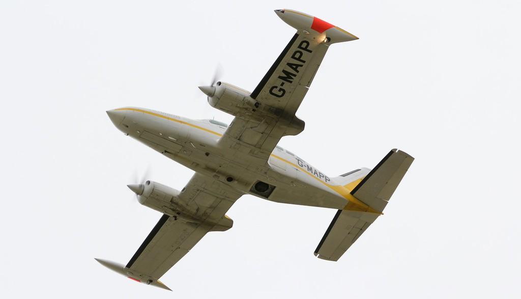 Reconnaissance Ventures Ltd Cessna 402B G-MAPP.<br /> By Jim Calow.