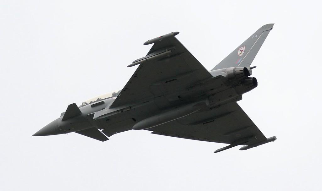 29Sqn Typhoon ZJ814/BH.<br /> By Jim Calow.