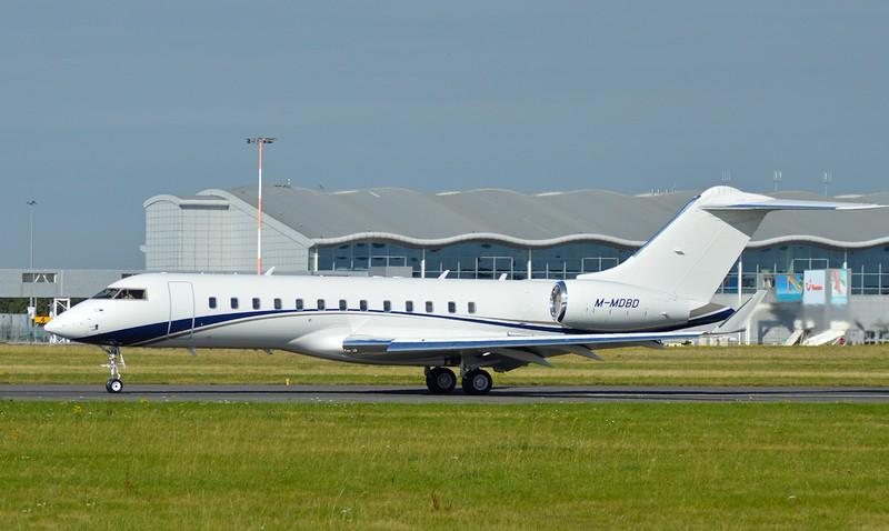 Bombardier BD-700-1A10 Global Express, M-MDBD<br /> By Kev Barwell.