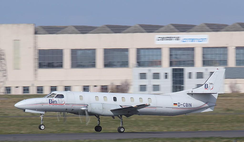 BinAir, Swearingen SA-227AT Merlin IVC, D-CBIN arriving from Stockholm.<br /> By Jim Calow.