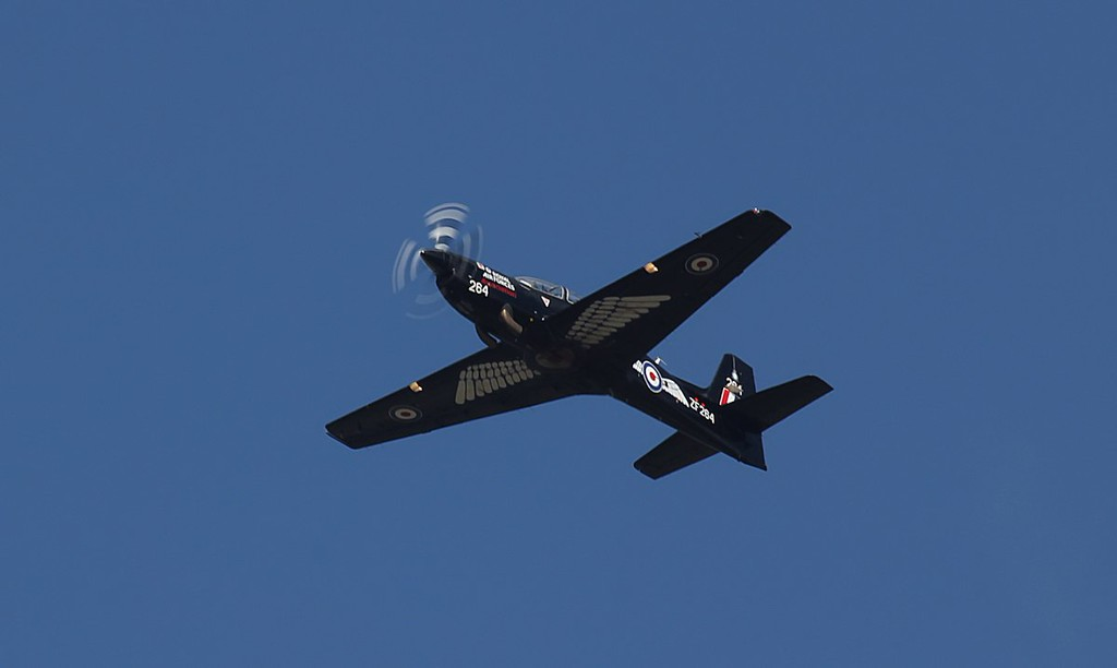 Tucano T1, ZF264 made a missed approach.<br /> By Jim Calow.
