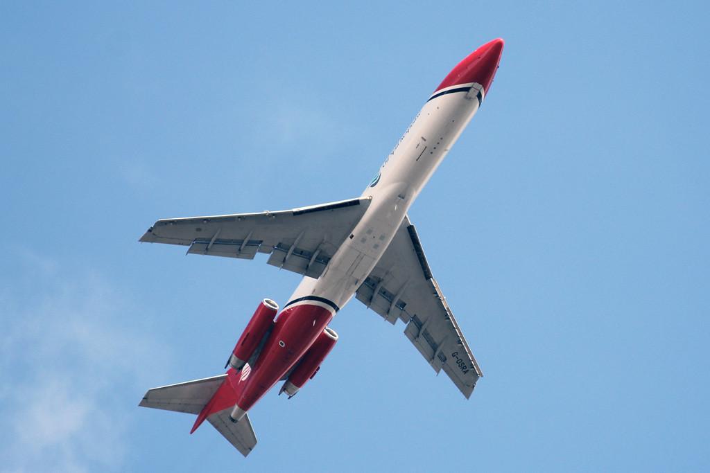 T2 Aviation, 727-200, G-OSRA<br /> By Graham Vlacho.